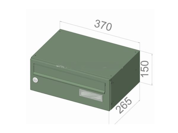 City Hall LBD-015 wall mounted internal-external post boxes for flats with dimensions