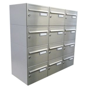 City Hall LBD-21 Wall Mounted Stainless Steel Post Boxes