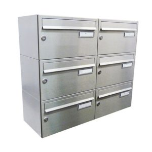 City Hall LBD-217 Wall Mounted Stainless Steel Post Boxes