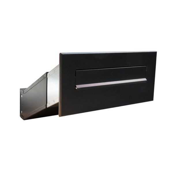 D-041 Powder Coated black through the wall letterbox