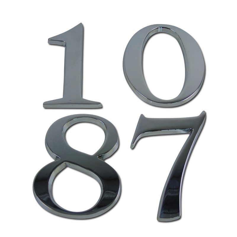 Large house numbers uk designed recycled house numbers for Modern house numbers canada