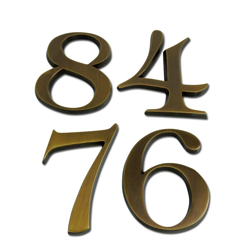 brass house numbers polished brass finish