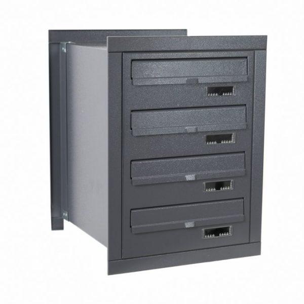 E4M rear access multi occupancy post boxes