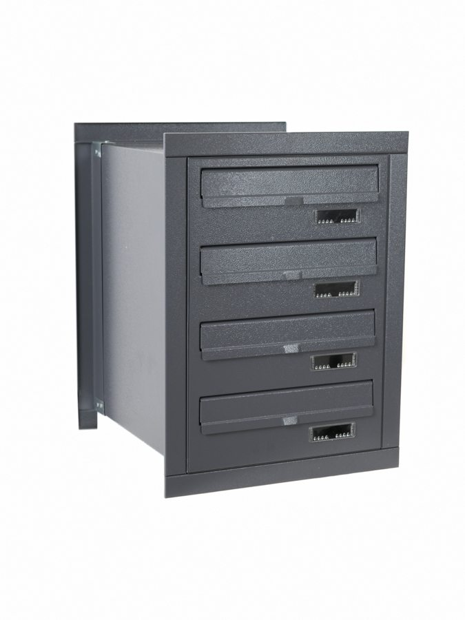E4M rear access multi occupancy post boxes