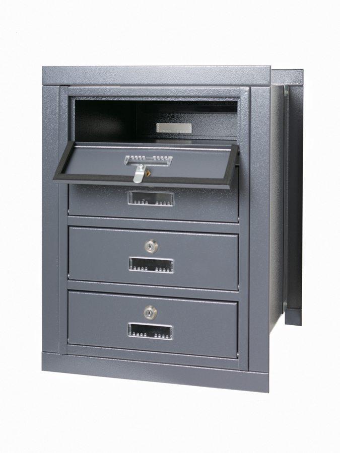 E4M rear access multiple letterboxes