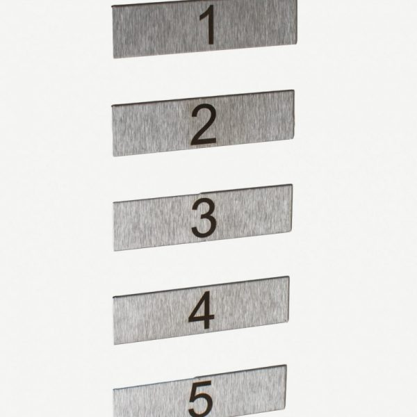 Flats numbers for multiple letterboxes
