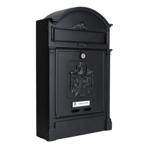 Heritage Die-Cast Aluminium Styled Letterbox Front