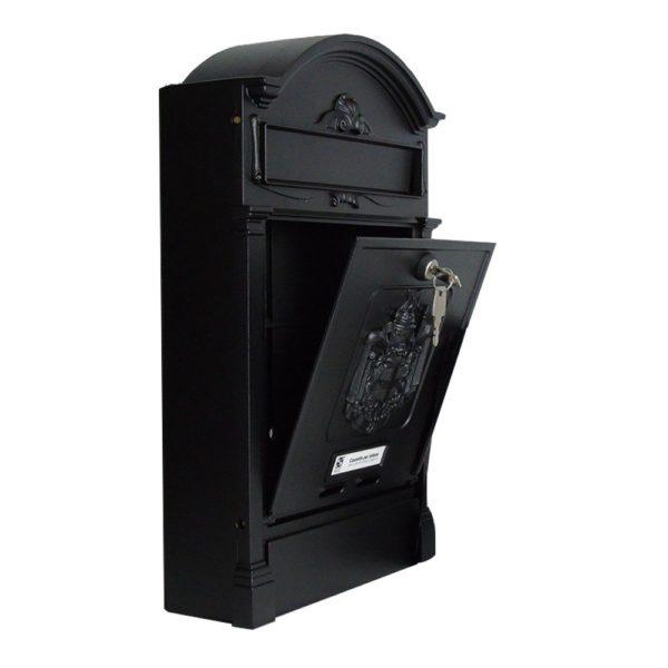Heritage Die-Cast Aluminium Styled Letterbox Open