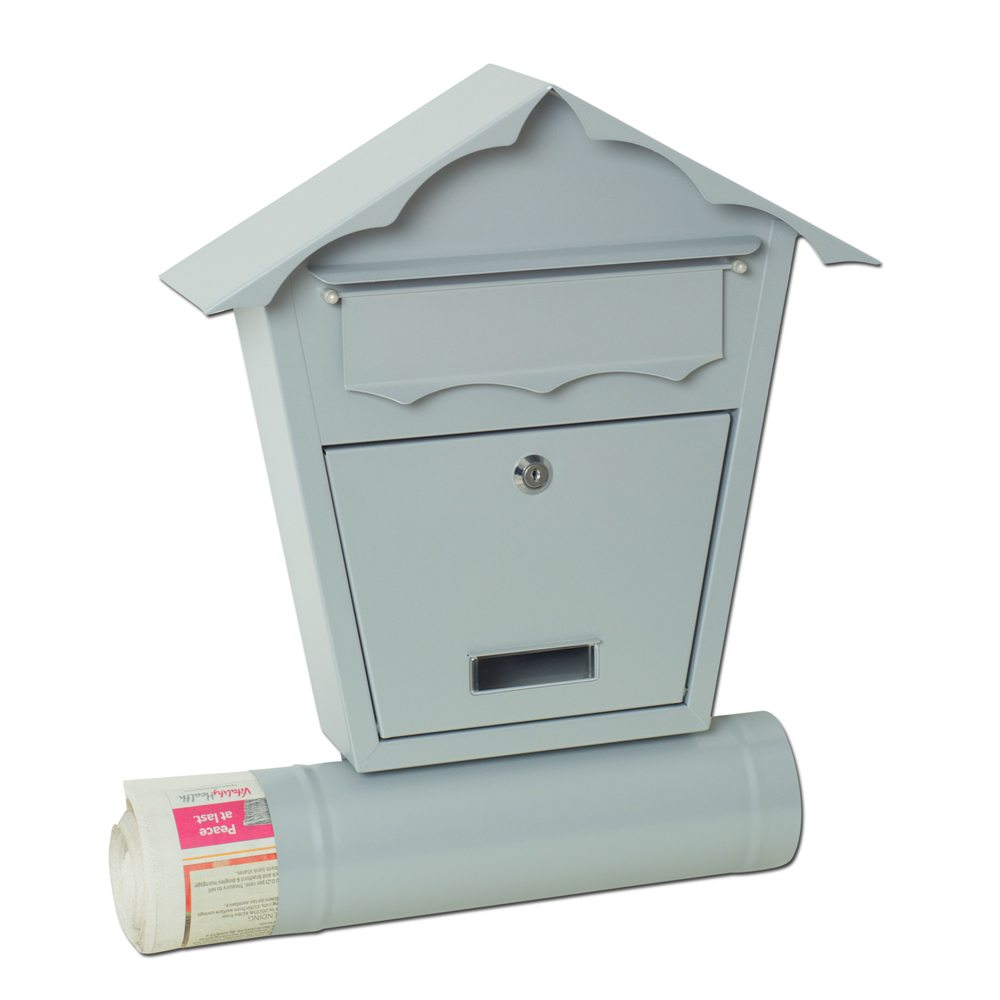 Wall mounted post box sd2t with newspaper holder