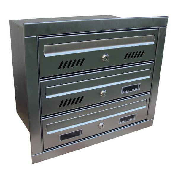 MTZ Recessed mounted multi occupancy postboxes