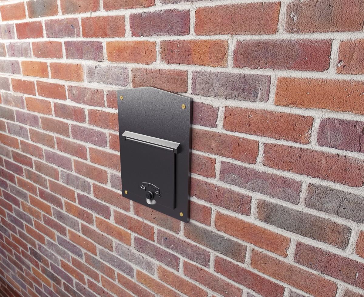Bloomsbury Through The Wall Cast Aluminium Mailbox