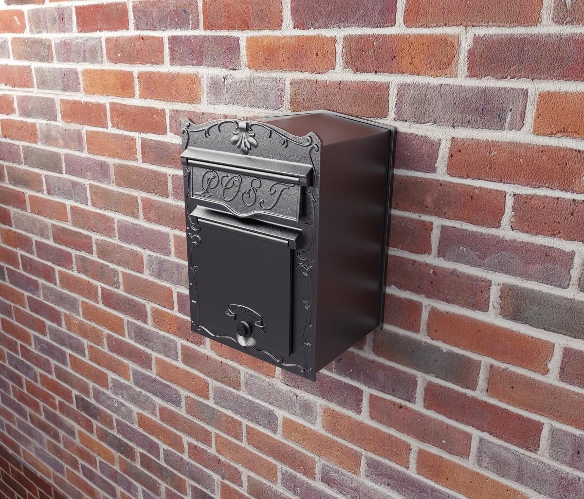 Kingsbury Letterbox Through The Wall Heavy Duty Cast