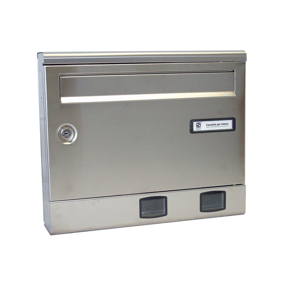 Moda Italiana S2001ER- Stainless Steel Front External Letterbox