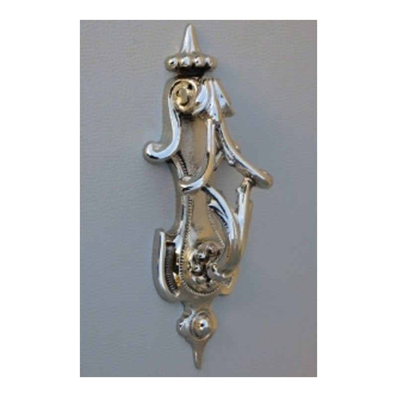 Polished large brass Handle-Door Knocker - chrome