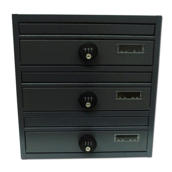 Post boxes for flats with a combination lock