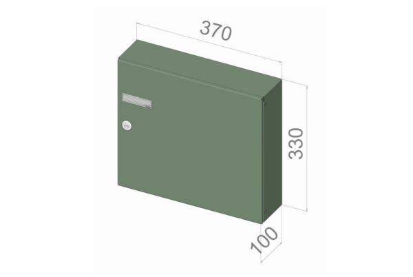 Rear access post box
