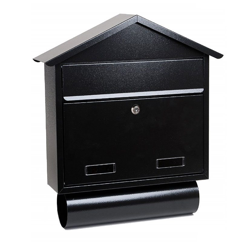 SO2T Outdoor Wall Mounted Post Box with newspaper holder