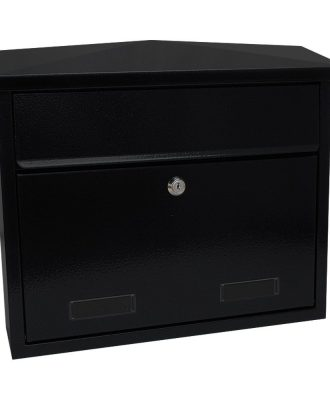 SD4 Large wall mounted exterior letterbox Black