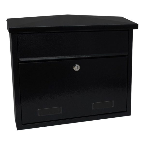 SD3 Large exterior wall mounted post box SD4 Large wall mounted exterior letterbox Black