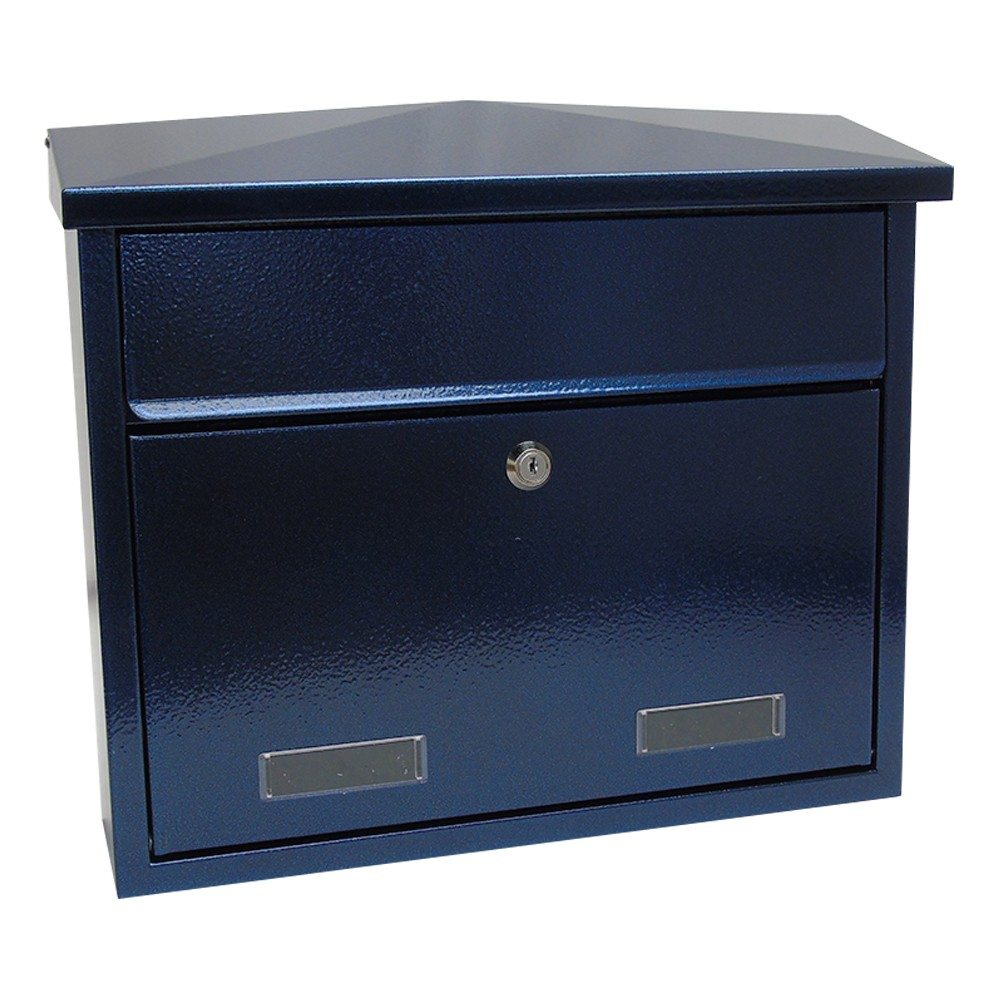 SD3 Large exterior wall mounted post box SD5 Large wall mounted exterior letterbox Antique Blue