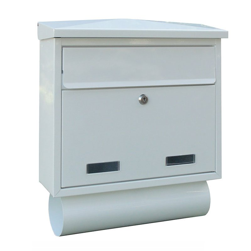 SD5T Large External Wall Mounted Post Box with Newspaper Holder