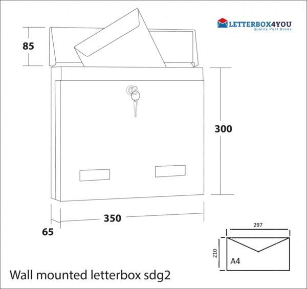 External Wall Mounted Post Box Powder Coated SDG2