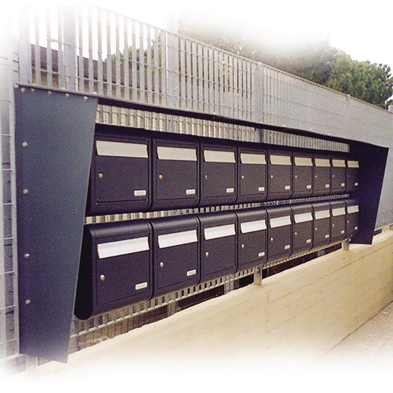 Sole Cast Aluminium High Capacity Wall Mounted Post Box