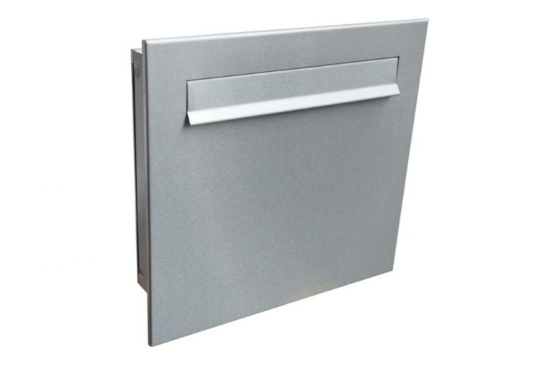 Gate Mounted Railing Mounted Post Box Stainless Steel Lad