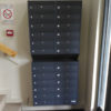 Wall mounted multi occupancy letterboxes E1s for narrow spaces