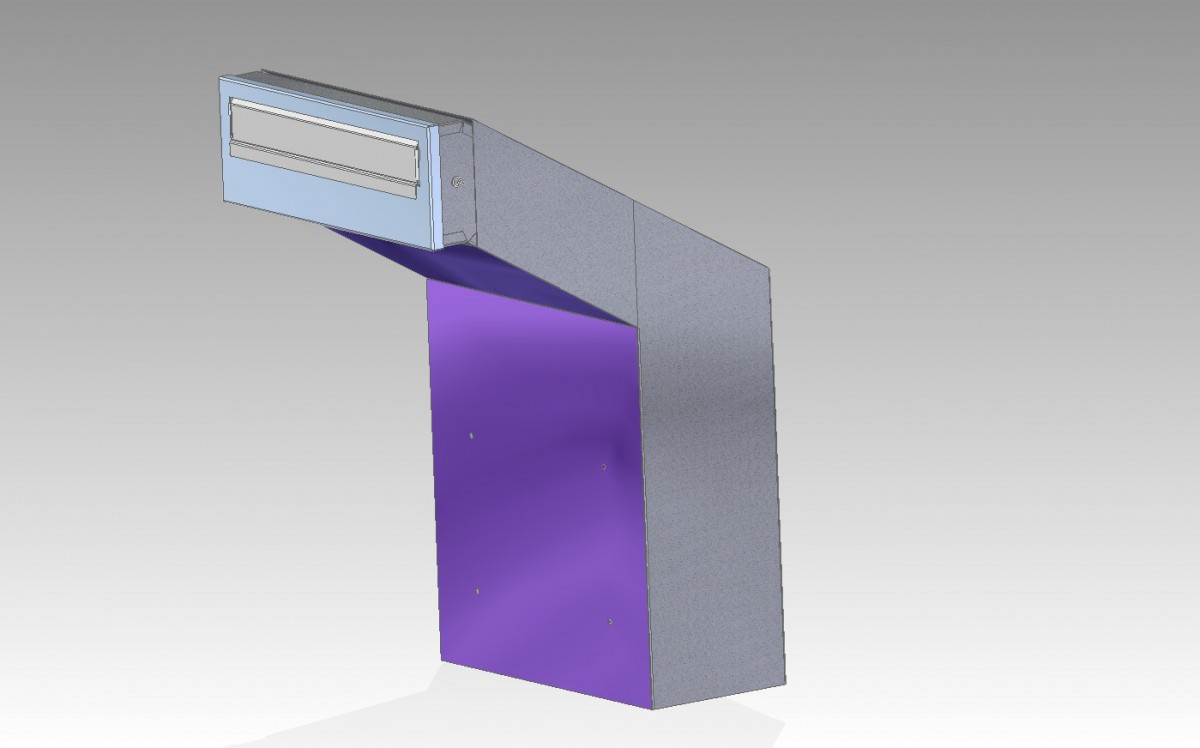 Rolle Through The Wall High Capacity Letterbox Post