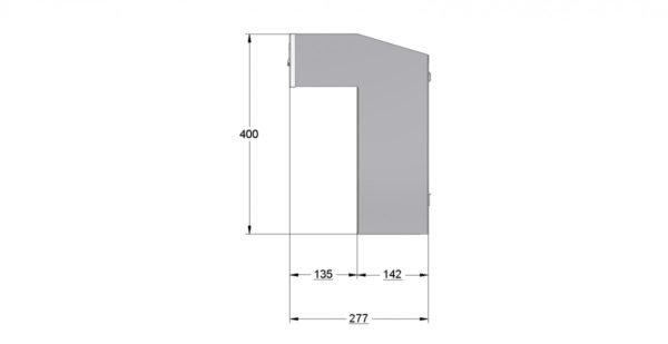 W3-4_XL - Through the wall letterbox for porches, dimensions