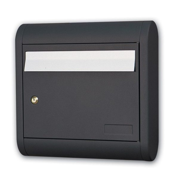 Wall mounted post box in cast aluminium