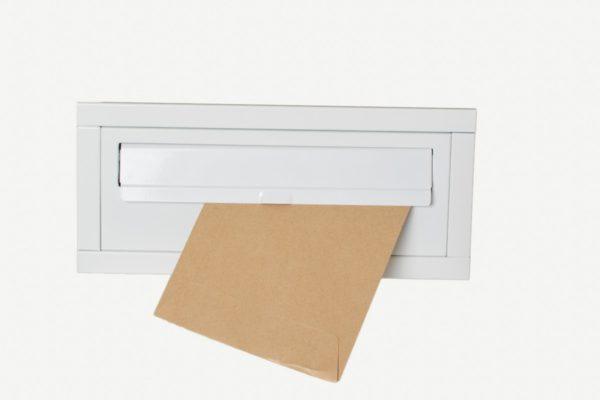 White through the wall post boxes