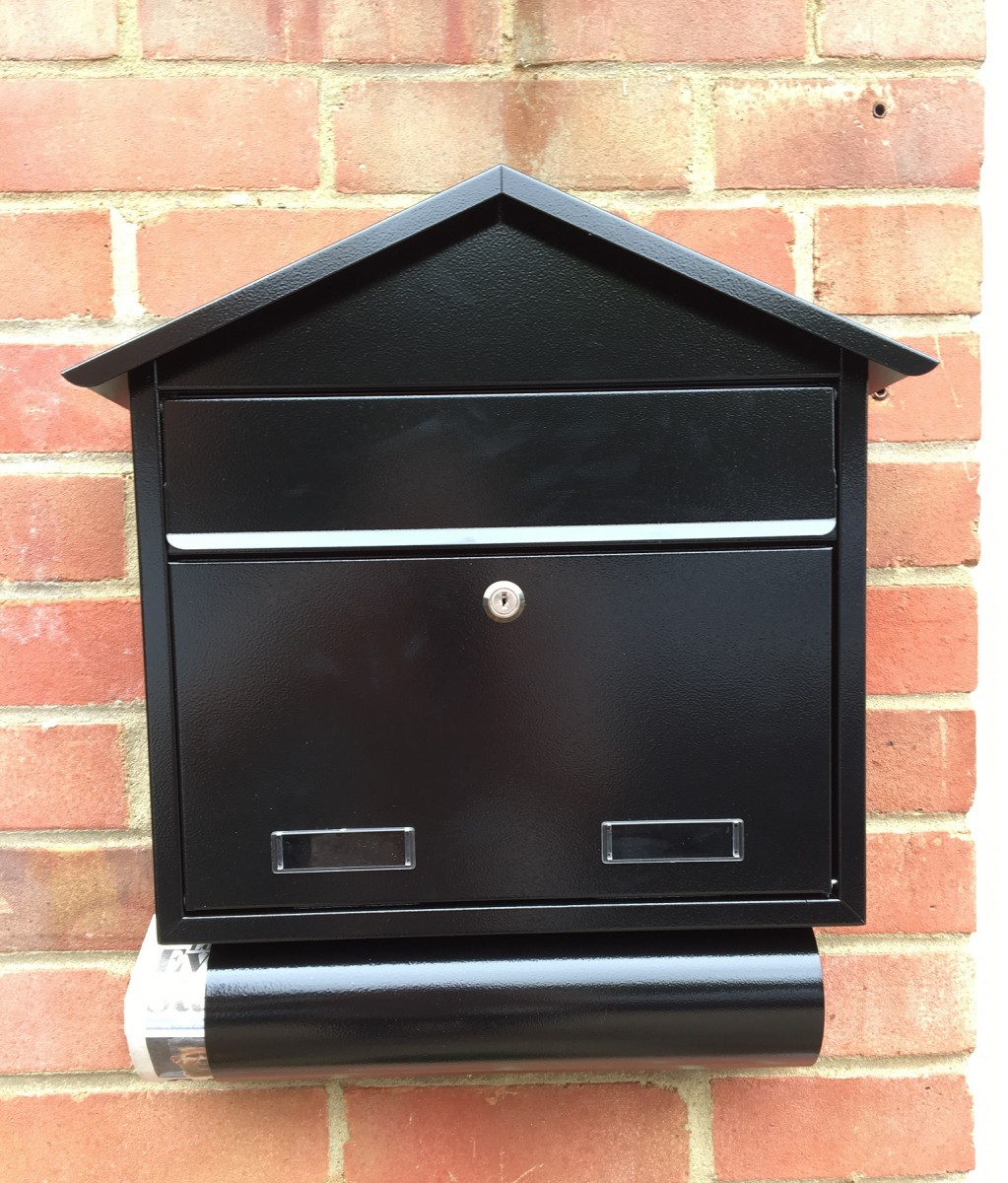 Letterbox Uk: SD3T Outdoor Wall Mounted Post Box + Newspaper Holder