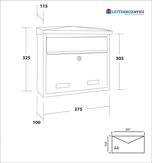 SD3 Large exterior wall mounted post box sd5 wall mounted letterbox external