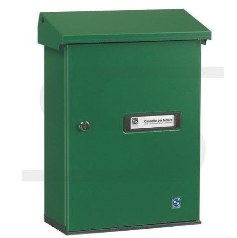 serenissima wall mounted green letterbox