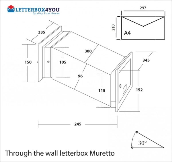 through the wall letterbox Muretto