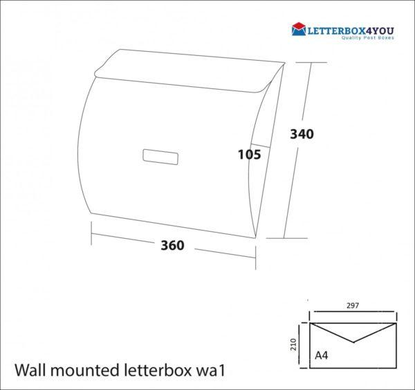 Wall Mounted Post Box WA1 wall mounted contemporary post box wa1